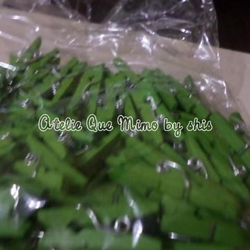 mini pregador verde