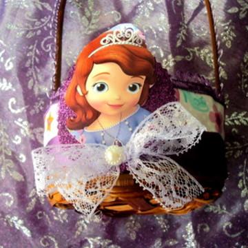Lembrança Princesa sofia - cesta renda