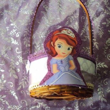 Lembrancinha Princesa Sofia - cesta