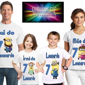 Kit 4 Camisetas minions
