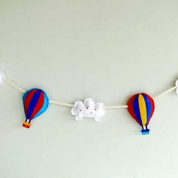 Balões Coloridos Nuvens Varal Piccolo