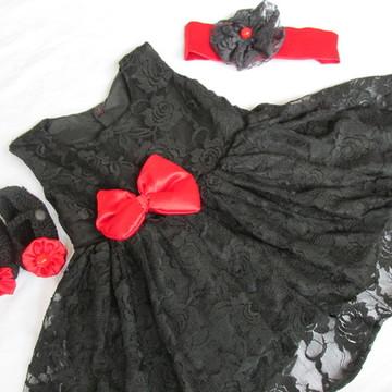 Vestido Minnie Renda