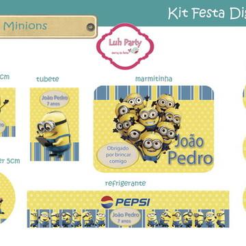 Kit Festa Digital Minions