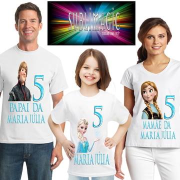 Kit 3 Camisetas Frozen