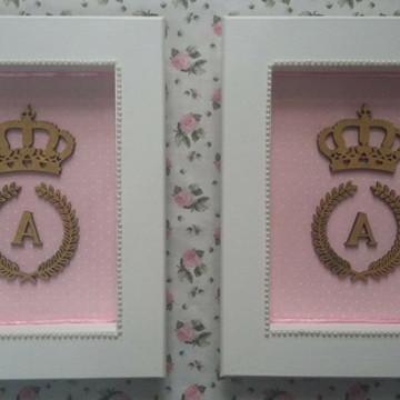 Duo de quadros Coroa - Frete Grátis