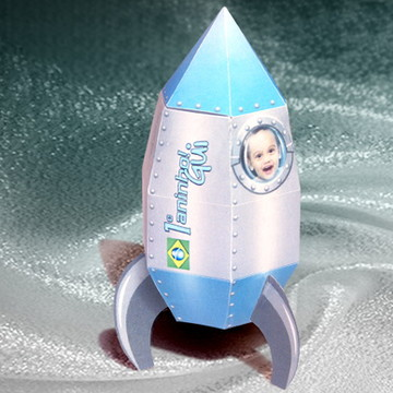 Embalagem foguete para doces