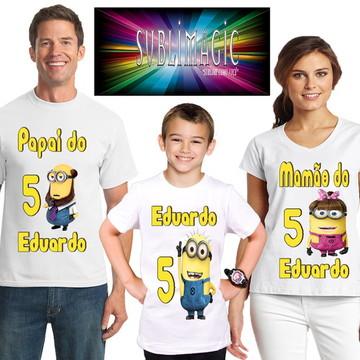Kit 3 Camisetas minions