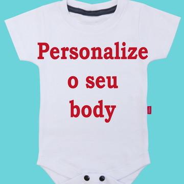 Body para Bebe - envie sua ideia - frase