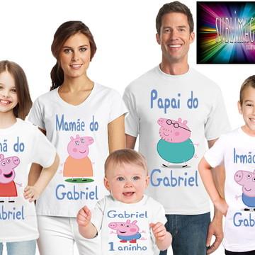 Kit 5 Camisetas Pig