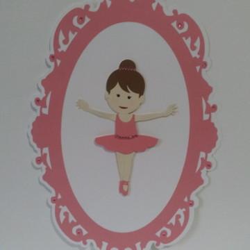 Quadro enfeite Bailarina