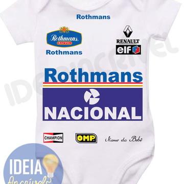 Body Infantil - Corrida F1 Ayrton Senna