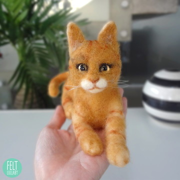 Gato - Miniatura feltrada