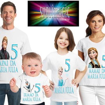 Kit 4 Camisetas Frozen