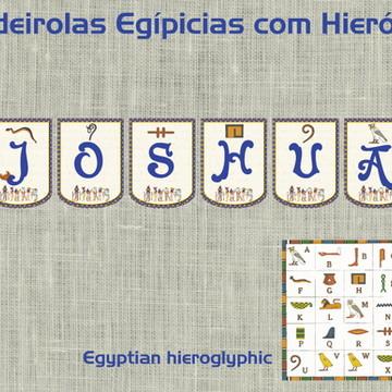 Bandeirolas impressas Egito O Império