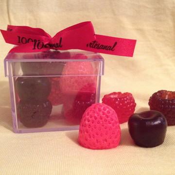 Caixa de Sabonetes Frutas Vermelhas