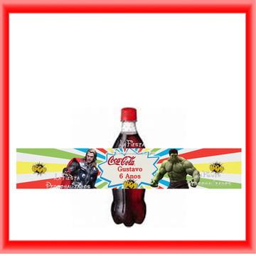 Rótulo Coca Cola Vingadores