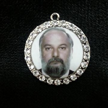 Medalha para buquê de noiva redonda