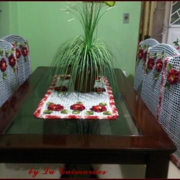 Conjunto de Mesa e Cadeiras em crochê