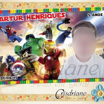 Lembrança Imã Lego heroes