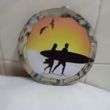 Quadro redondo - 19x19 Cms - Surf