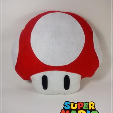 Cogumelo Super Mario em feltro