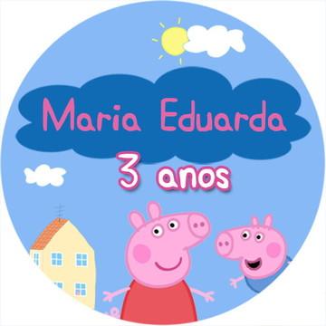Rótulo Latinha - Peppa Pig