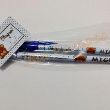 Lápis e caneta personalizada