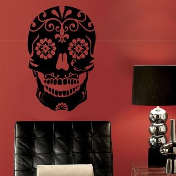 Adesivos parede caveira mexicana