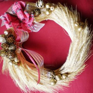 Guirlanda trigo dourado 2