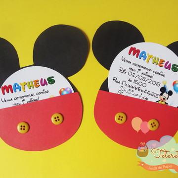 Convite Orelha Mickey/Minnie