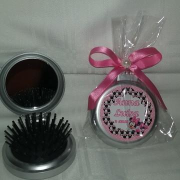 Escova de cabelo de bolsa/ Espelho