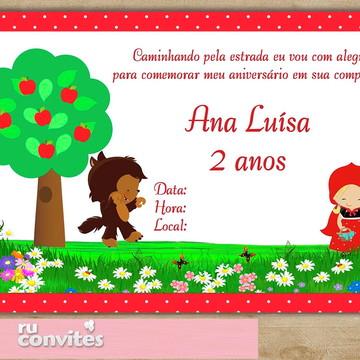 Convite Chapeuzinho Vermelho (570)
