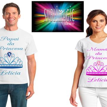 Kit 2 Camisetas Coroa de Princesa