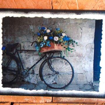 Quadro Vintage - Bicicleta-Cor-Azul