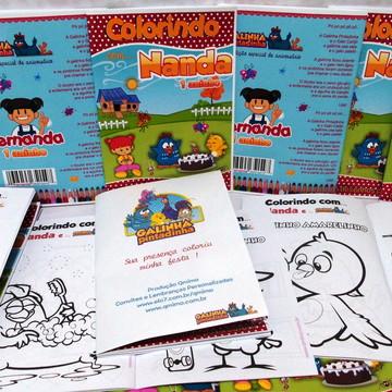 Kit - Revista colorir + Giz + Massinha
