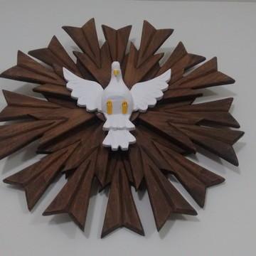 Divino Espírito Santo Madeira 50cm Religiosos