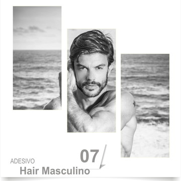 ADESIVO SALÃO BARBEARIA HAIR 07