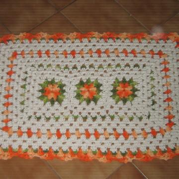 Tapete de crochê barroco