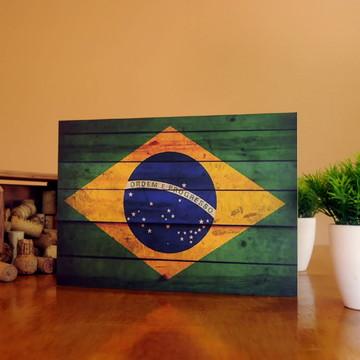 Quadro Bandeira do Brasil - 80