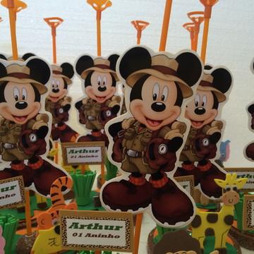 Enfeite de mesa Mickey safari