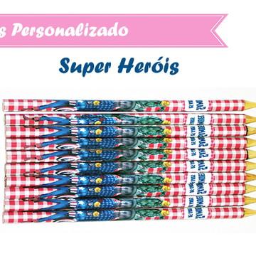 Lápis Personalizado Super Heróis
