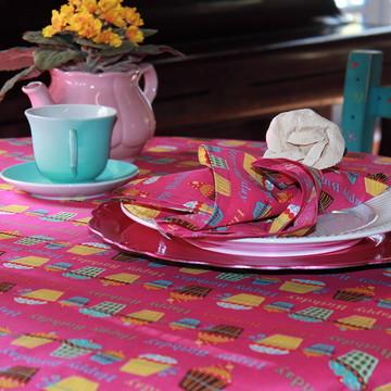 Toalha de mesa retangular Pink Birthday