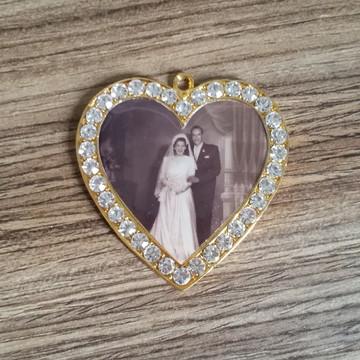 Medalha para buque de noivas