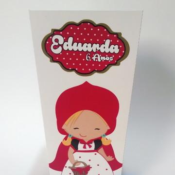 Caixa Pipoca Chapeuzinho Vermelho