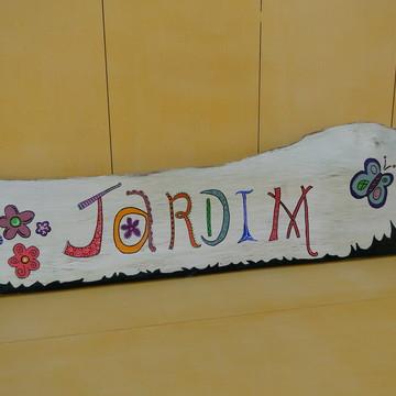 Placa Decorativa Jardim
