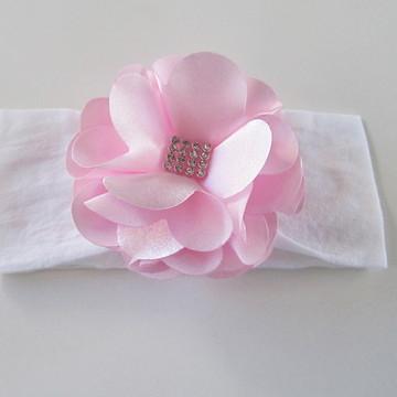 faixa tiara bebe criança flor