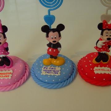 Lembrancinhas Mickey, Minie porta recados aniversario