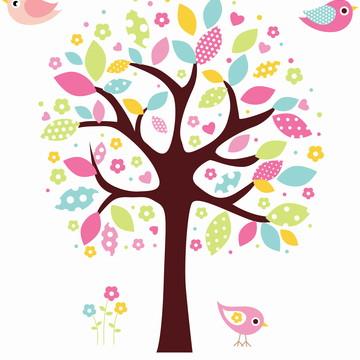 Adesivo parede árvore