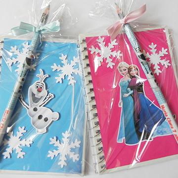 Kits caderno + lápis Frozen