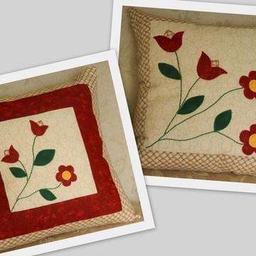 Capa para almofada patchwork